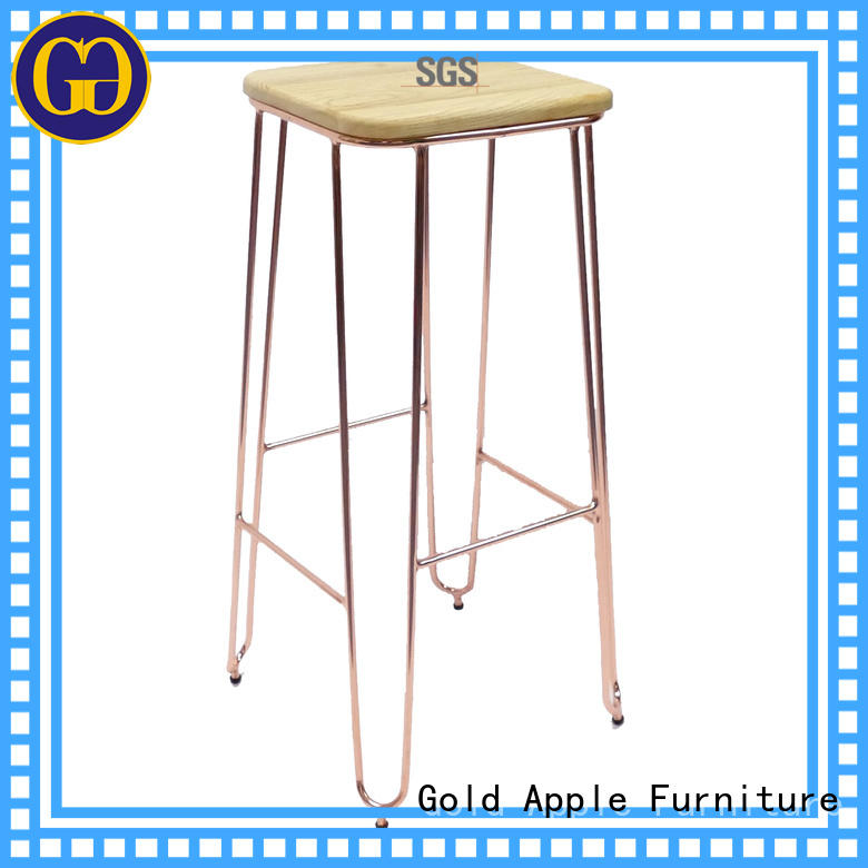 Quality Gold Apple Brand furniture chairs wooden swivel bar stools