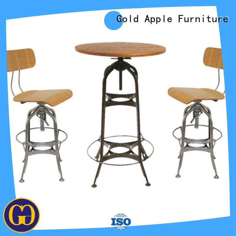 cutom bar stool table set colorful high-end all weather proof