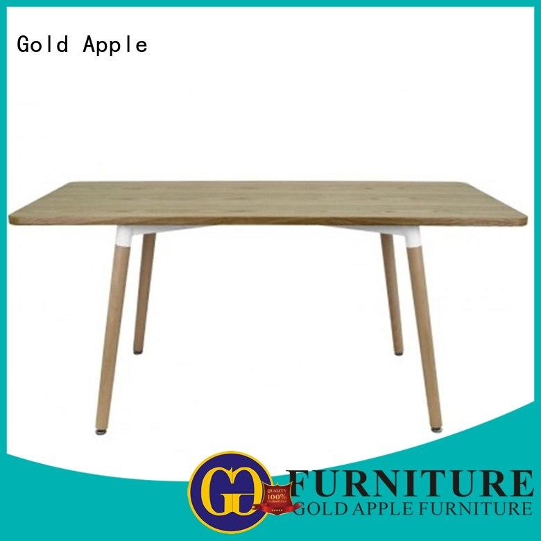 Gold Apple comfortable large round wood dining table commercial for catering