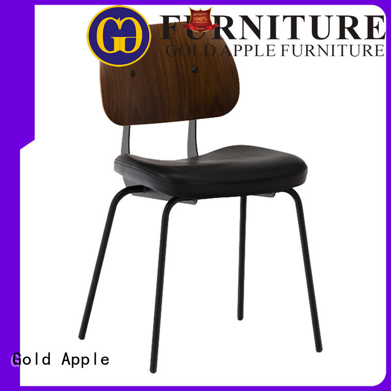powder coating leather dining chairs with metal legs industrial newest style pu leather