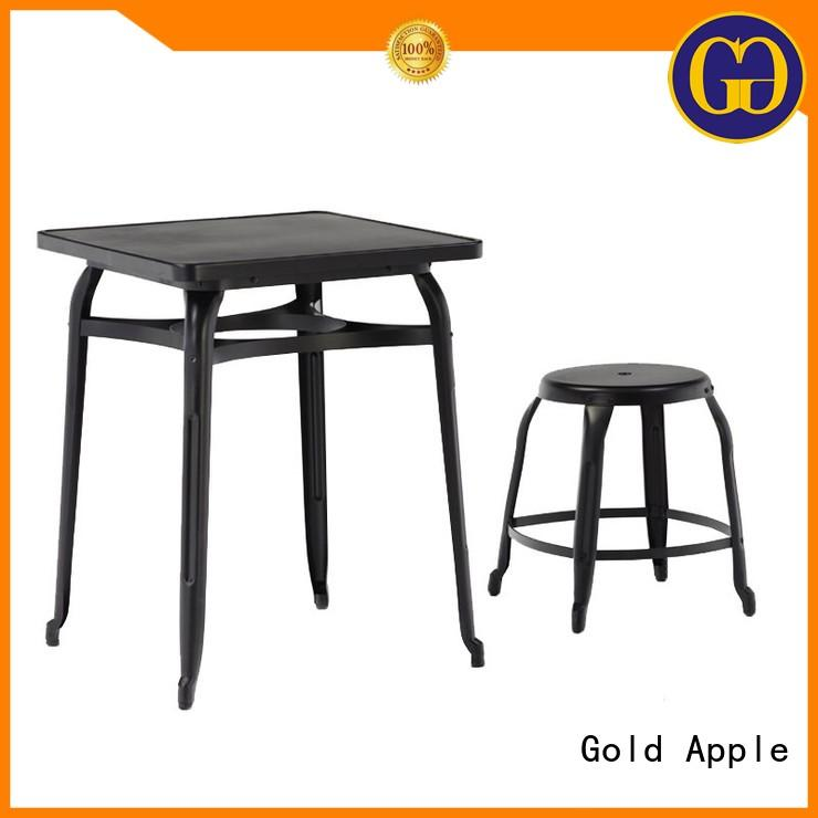 steel frame best dining table set customized round shape for hotel
