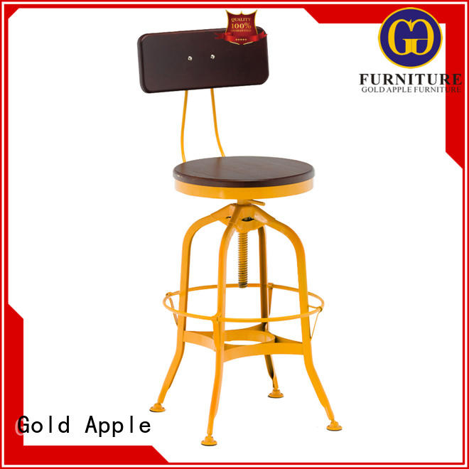 Gold Apple vintage elegant bar stools stackable adjustable height