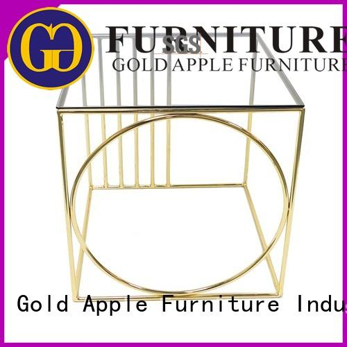 Gold Apple solid ash wood round coffee tables for sale custom for coffee shop