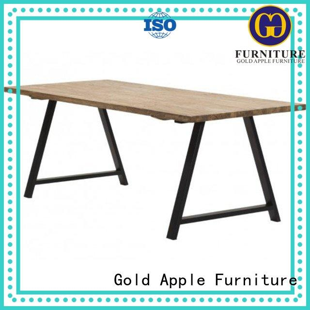 Gold Apple high-end wood dining tables for sale for catering