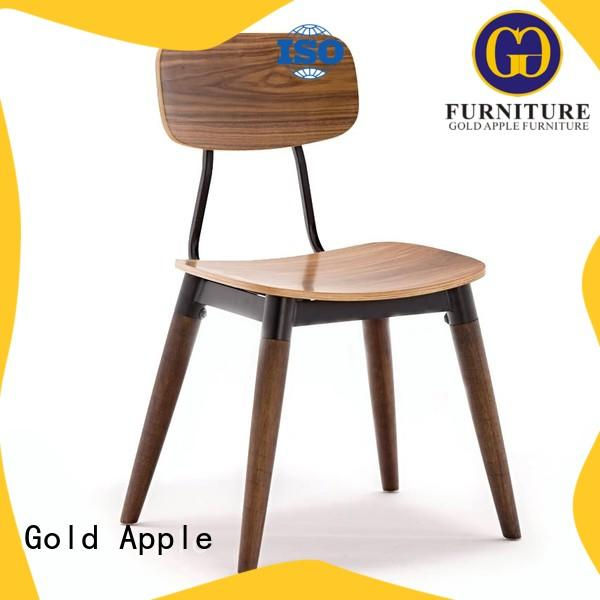 low-price wooden chair dining solid for restaurant Gold Apple