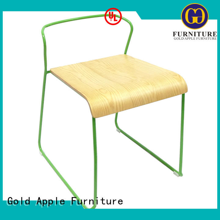 Gold Apple retro wooden chair manufacturers on-sale cafe furniture