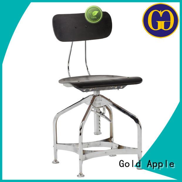 restaurant vintage Gold Apple Brand wooden stool chair