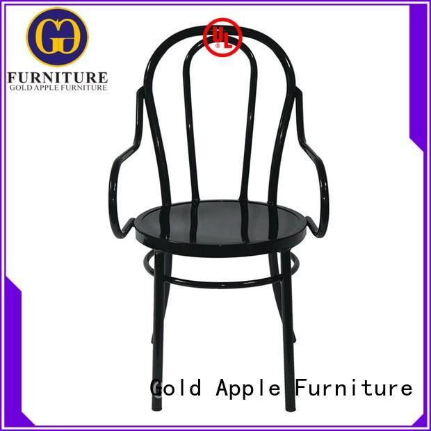 metal frame low patio chairs vintage dining chair Gold Apple