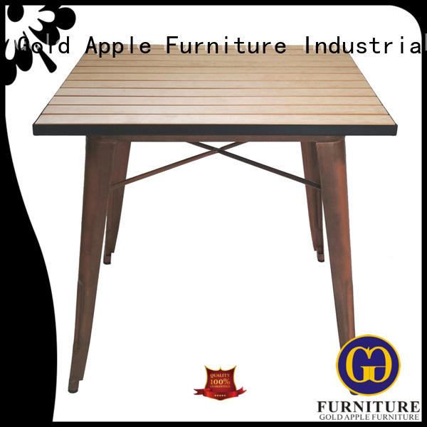 wedding wood patio table rectangle table Gold Apple company