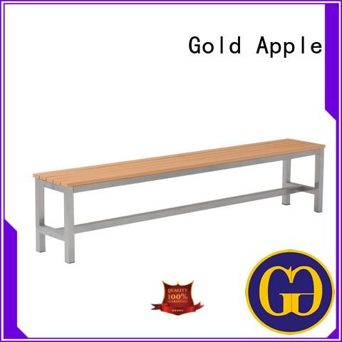 Gold Apple Brand wood outdoor wood patio bench bench factory