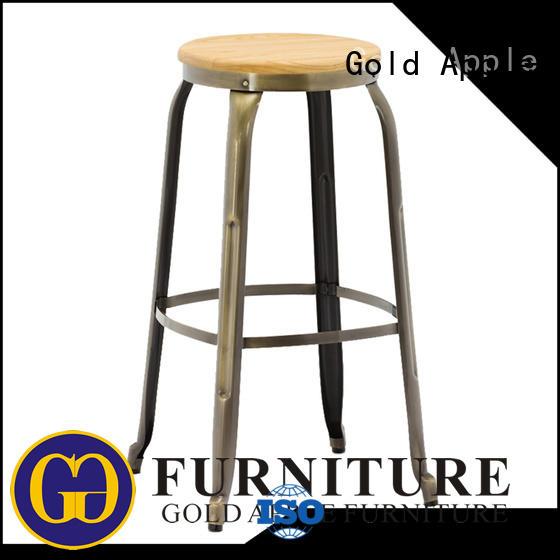 vintage wooden kitchen bar stools wooden seat for kitchen Gold Apple