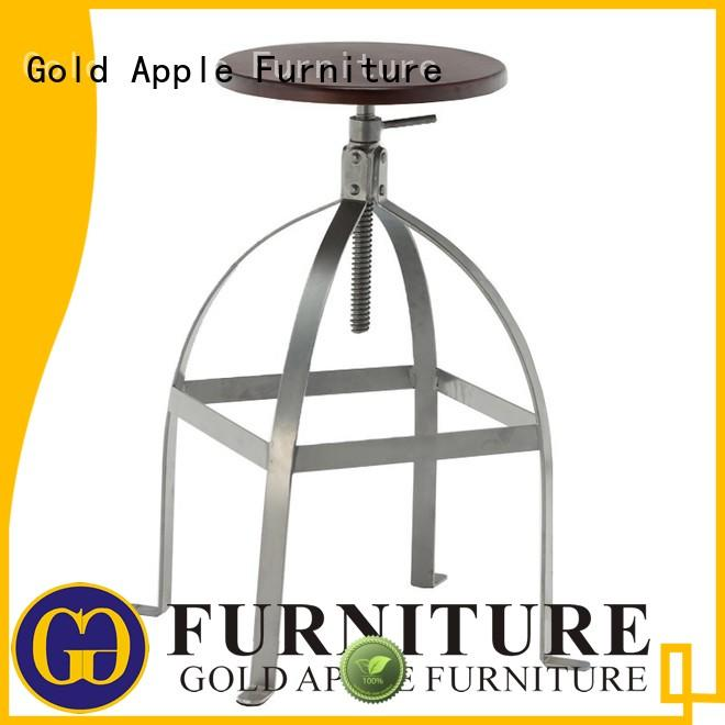 Gold Apple backless counter height swivel stools with backs retro for kitchen