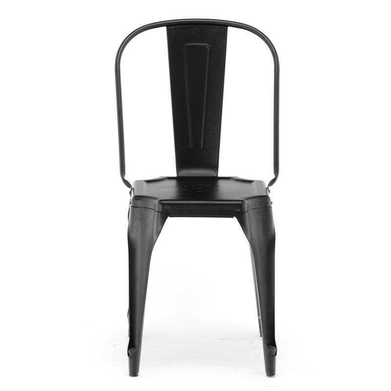 Retro Stacking Black Chair GA2102C-45ST