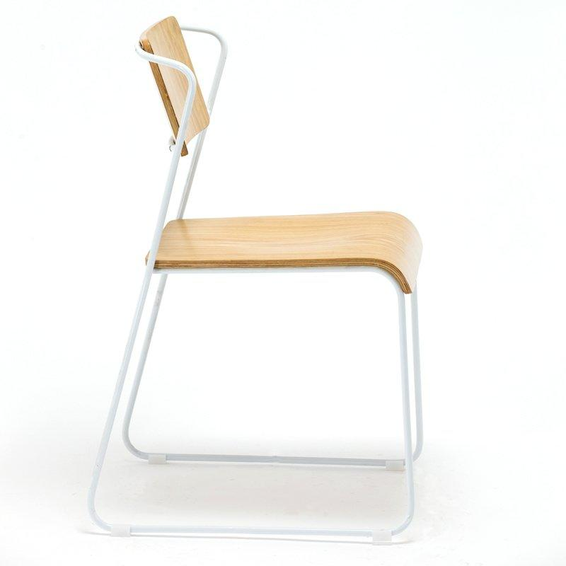 Stacking Restaurant Chair With Bent Plywood Seat And Back GA3601C-45STW