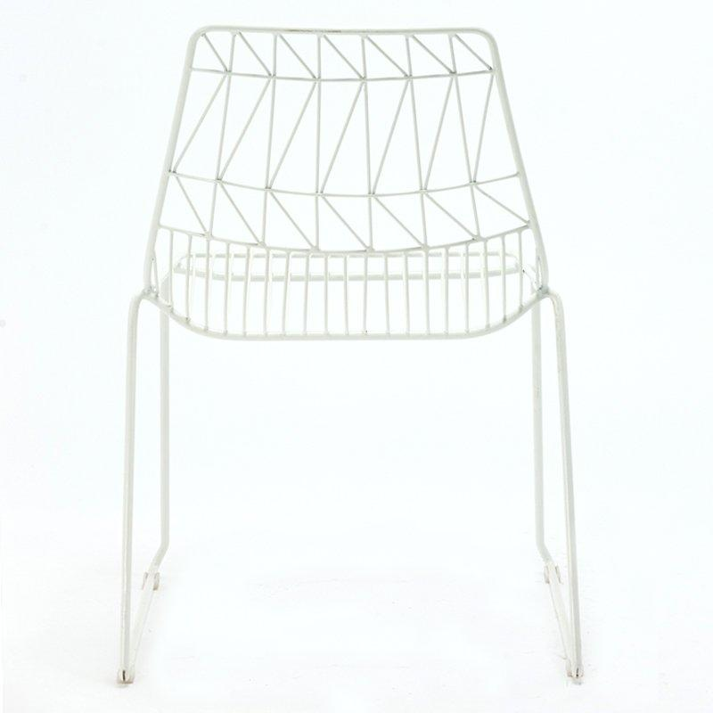 Modern replica Lucy wire dining chair, outdoor bent metal wire frame chairs GA2206BC