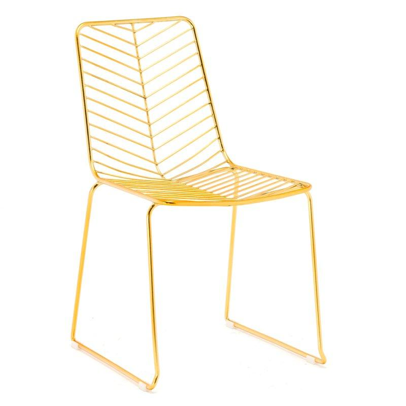 Replica Gold Color Lievore Altherr Molina Leaf Wire Chairs GA2204C