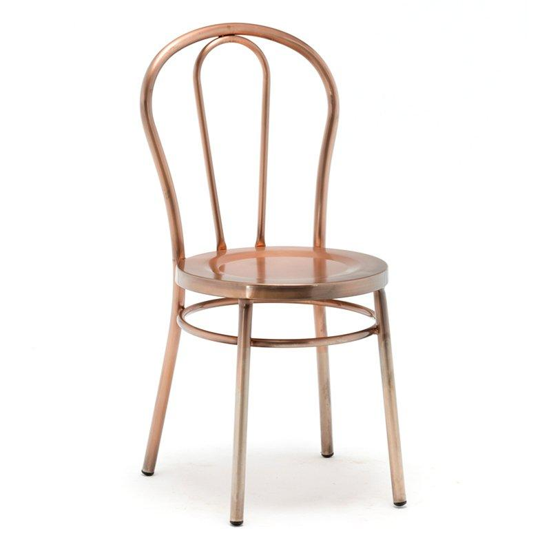 Replica Thonet Metal Bentwood Chair, Has Wooden Seat GA901C