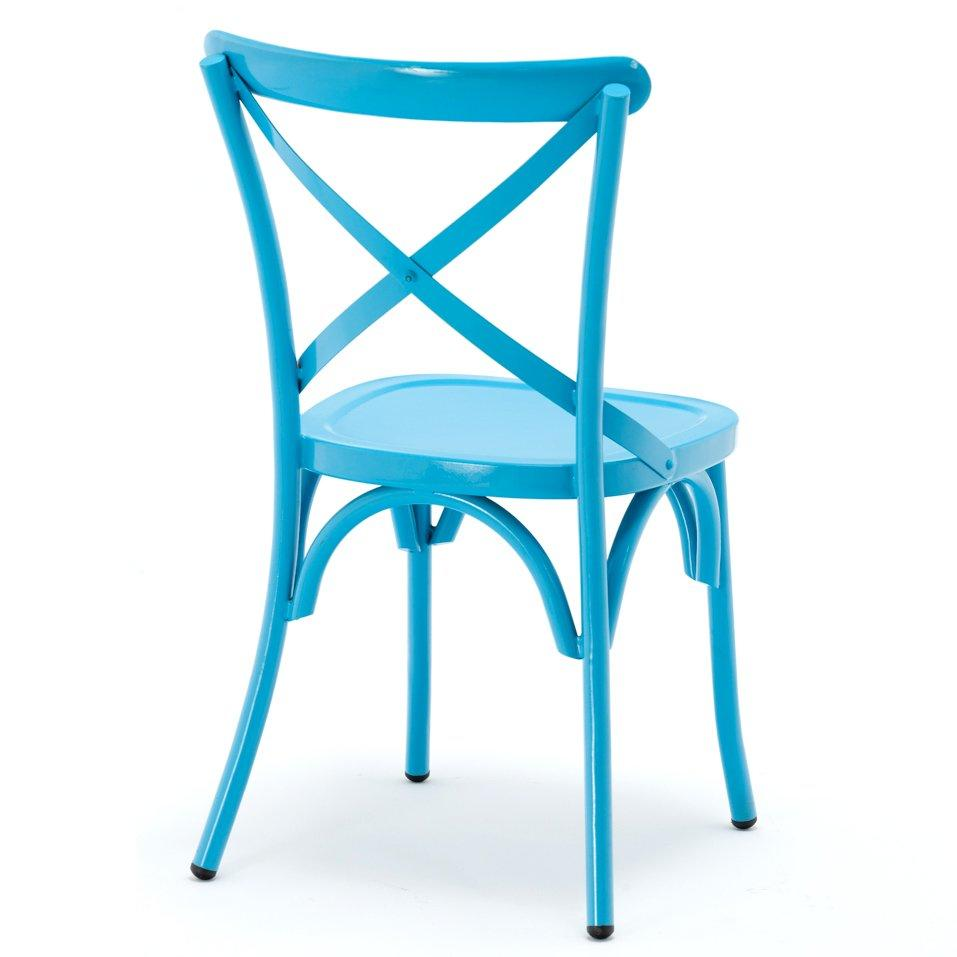 French Metal Cross Back Dining Chair For Wedding Event GA1101C