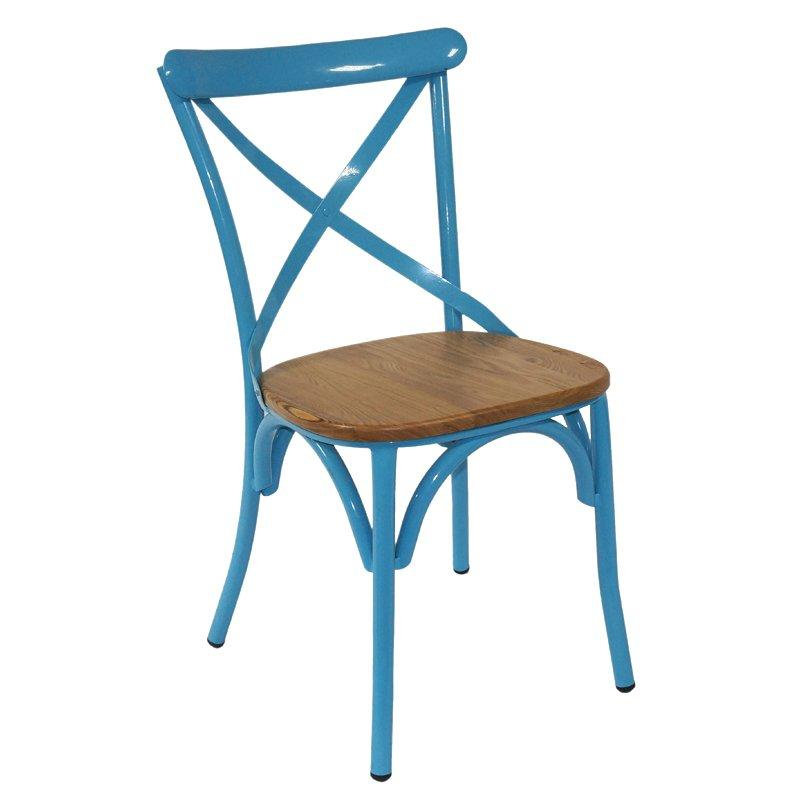 Wedding Furniture Metal Cross Back Banquet Chair GA1101C