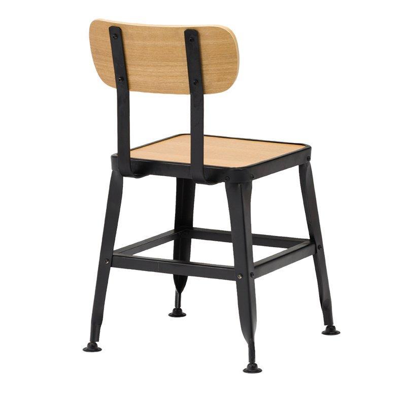 Industrial Wooden Chair With Natural Oak Wood Veneer Plywood  GA501C-45STPW