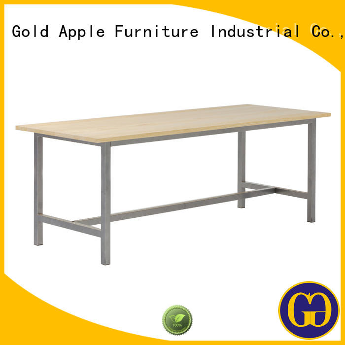 wood steel garden furniture table Gold Apple manufacture