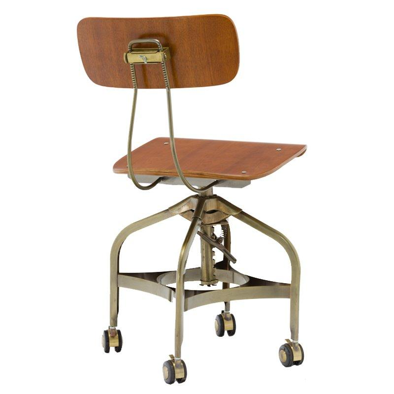 Vintage Office Toledo Chair With Wheels GA402C-45STW