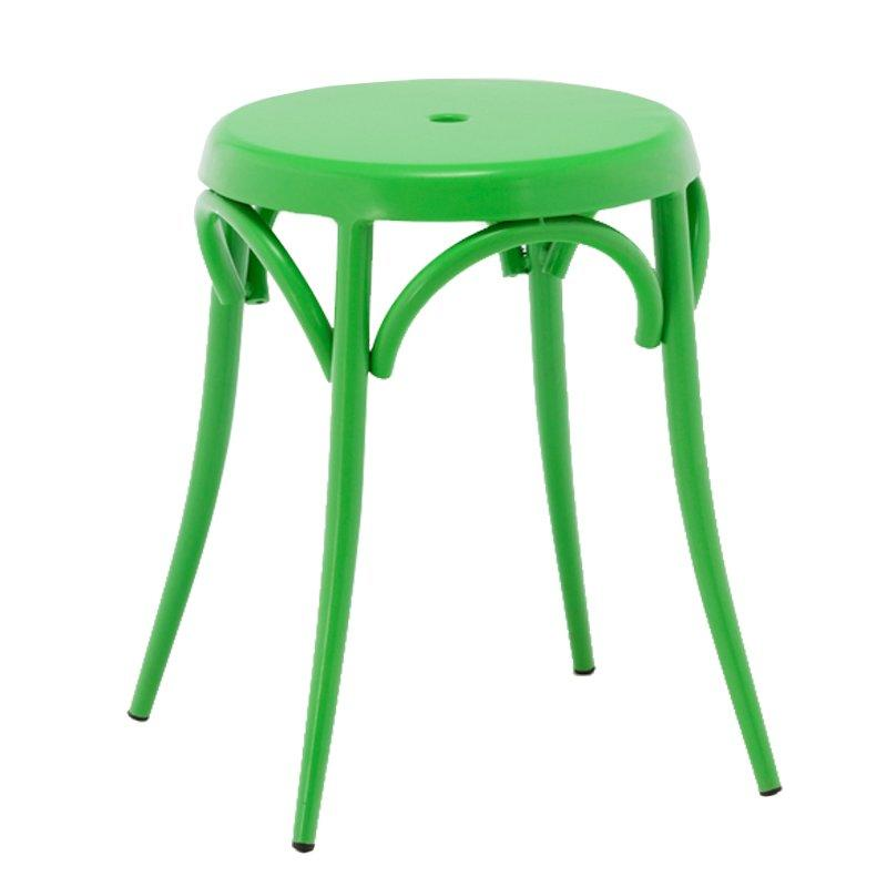 Factory low price restaurant chairs round metal stacking stools GA901ST-45ST