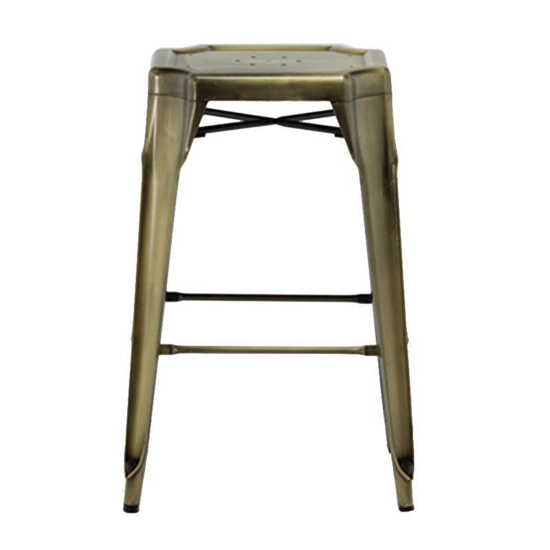 Stylish brushed brass velvet upholstery royal counter stool hot sale GA2101BC-70ST