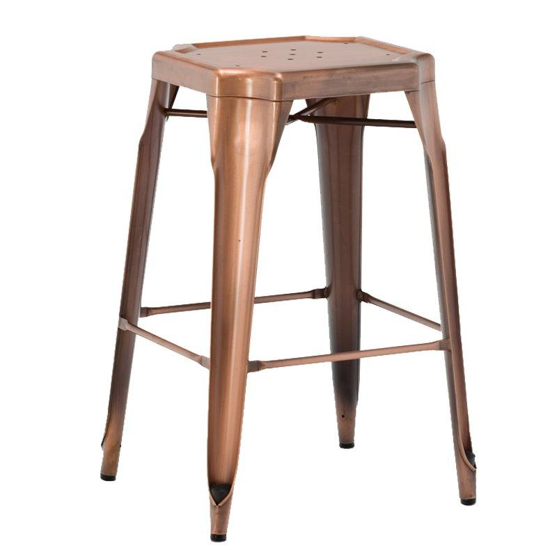 Stylish brushed brass velvet upholstery royal counter stool hot sale GA2101BC-70ST