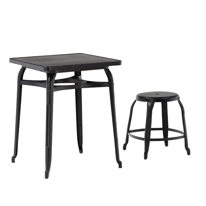 Modern Restaurant Tables and Chairs Square Coffee and End Table Set GA301SET