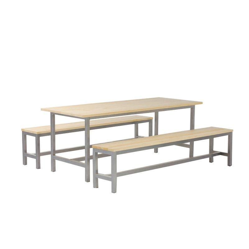 Durable Wood Outdoor Garden Furniture Long Table and Chairs GA-CUS86