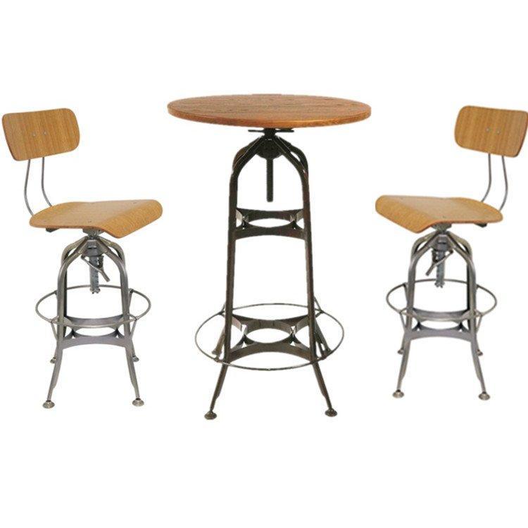 Industrial Bar Furniture Toledo Swivel Bar Table and Chairs GA402
