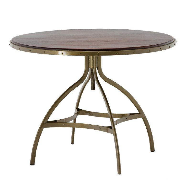 Adjustable Round Tables With Solid Ash Wood Top GA606T