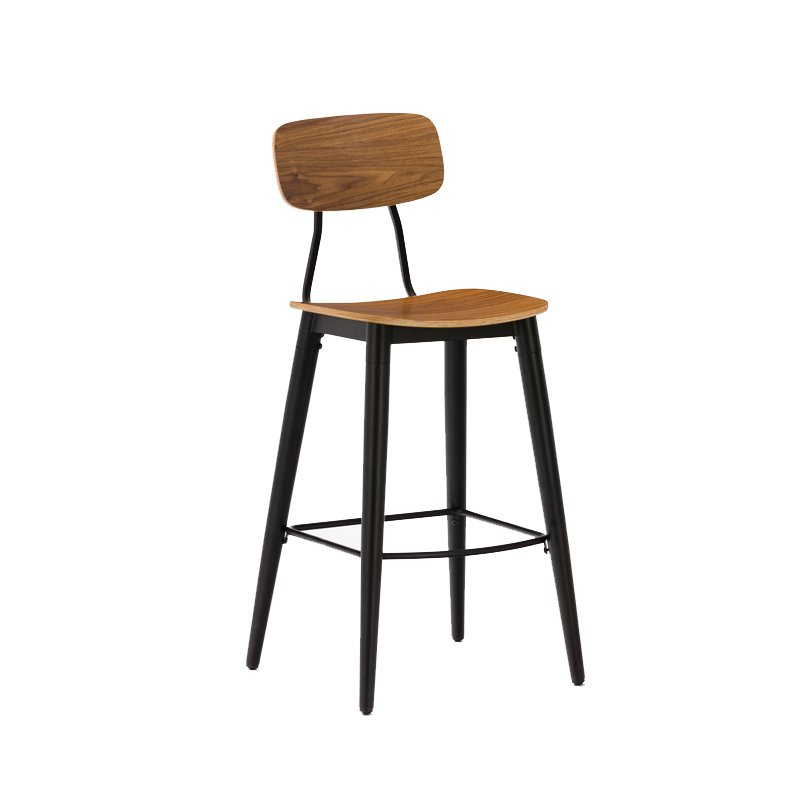 Gold Apple low-price wood top bar stools elegant with backrest-4