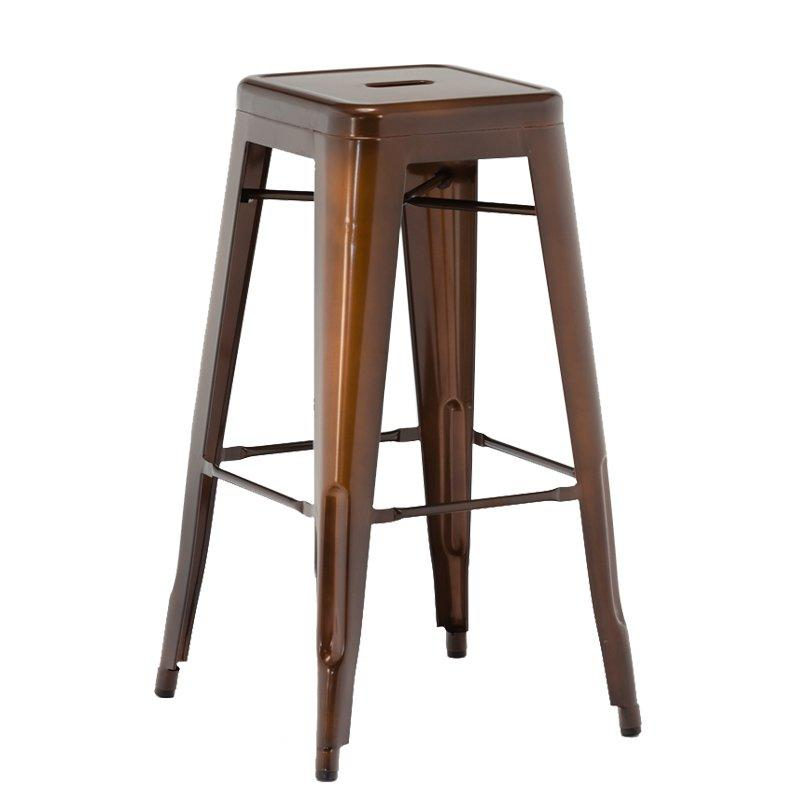 Coffee Rusty Industrial Marias Metal Iron Stool Bar Furniture for Sale GA201C-75ST