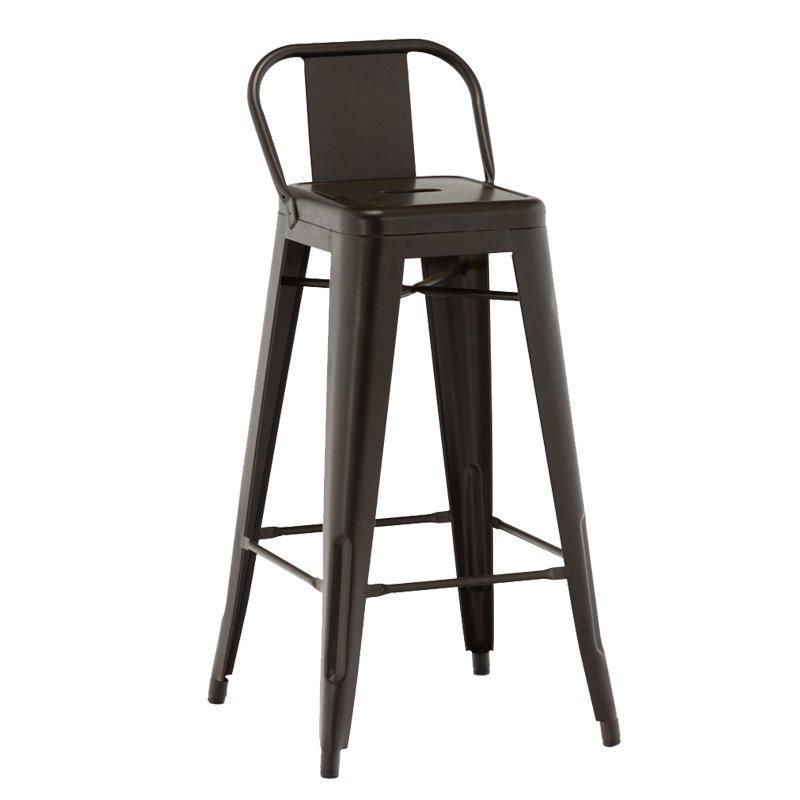 Bar furniture High quality cheap modern low back metal frame bar chair GA201BC-75ST