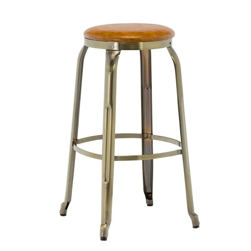 Wood Metal Bar Stool High Vintage Chair GA301C-75STP