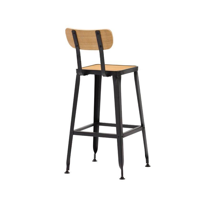 Wooden Bar Stool Chairs with Backs Elegant Bar Stools GA501C-75STPW