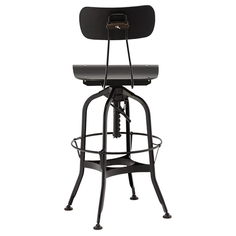 Gold Apple high-end wood stools with backs wooden seat for restaurant-4