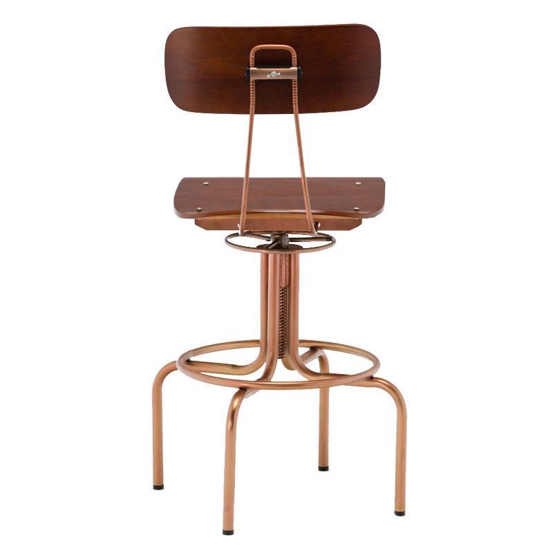 Steel and Wood Vintage Industrial Swivel Bar stool GA405C-65STW