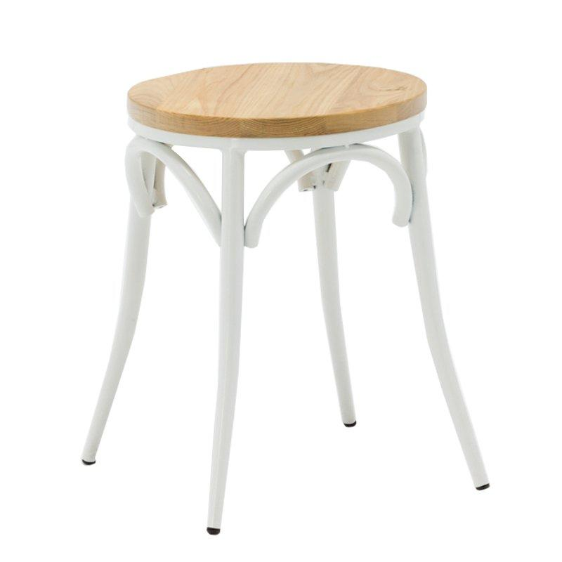 Solid Wood Steel Low Seating Stool GA901ST-45STW