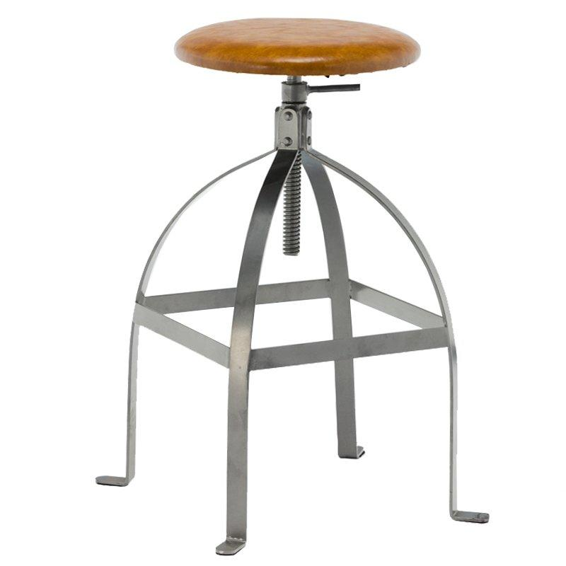 Wholesale Modern Cheap french style Restaurant Iron Garden wood swivel funny bar Stool GA602C-65STP