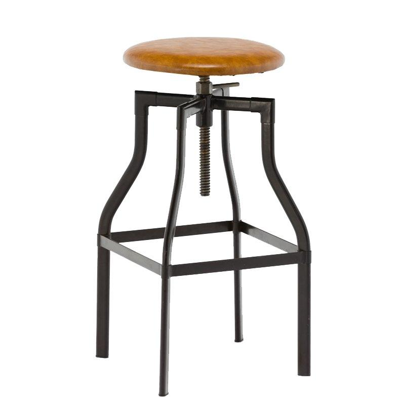 Industrial PVC Cushion Bar Stool GA601C-65STP