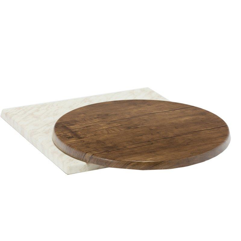 Restaurant Furniture resin table top with wood grain GA50TT