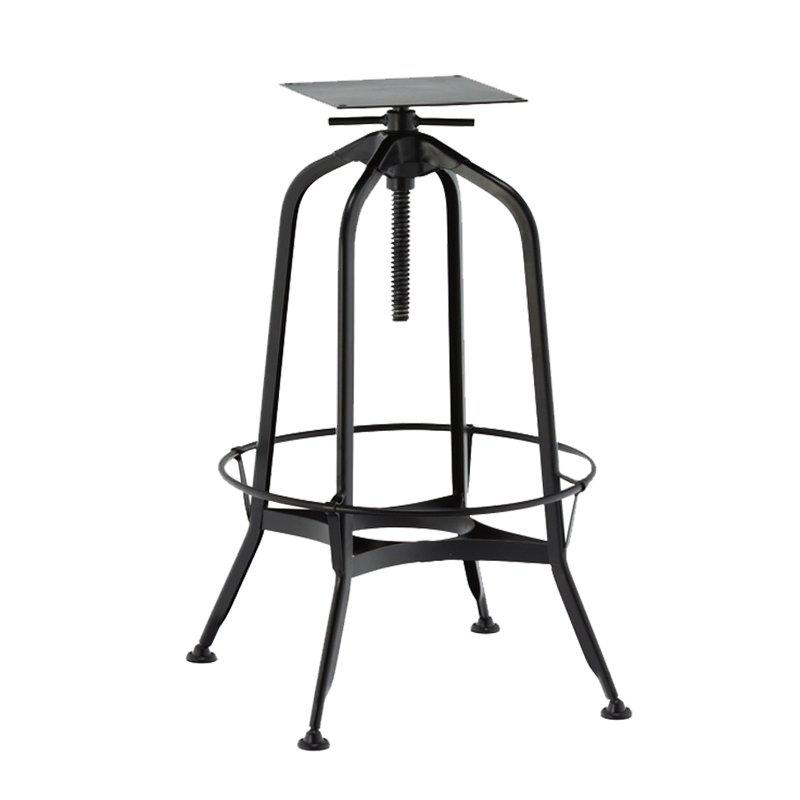 Vintage Industrial Bar Stool Distress Finish Iron Bar Stool Restaurant Cafe Swivel Iron Metal Bar Stool GA401T