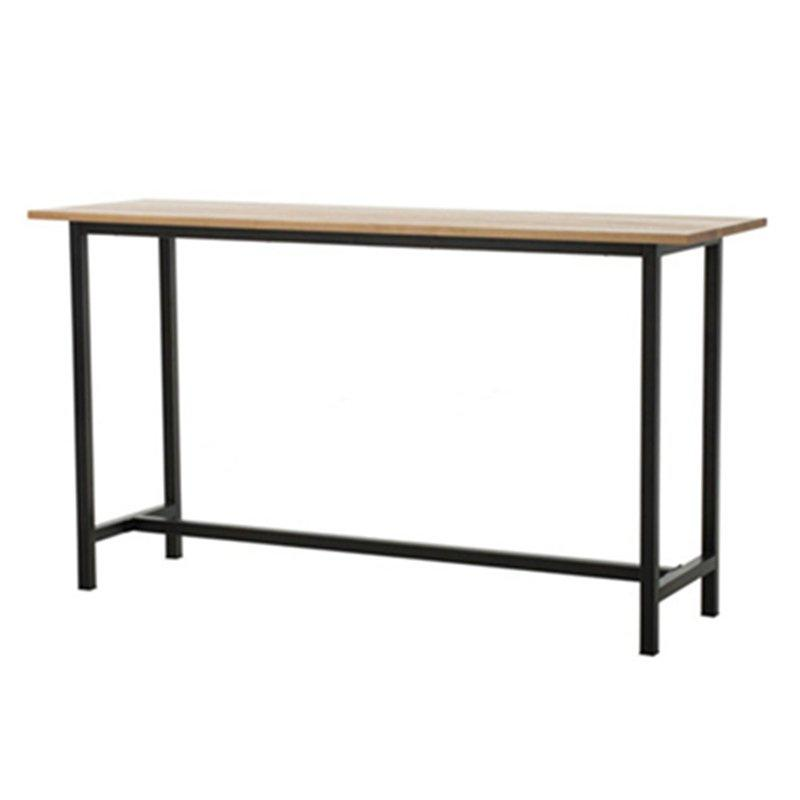 High Quality Steel Bar Table With Wooden Top GA602BT