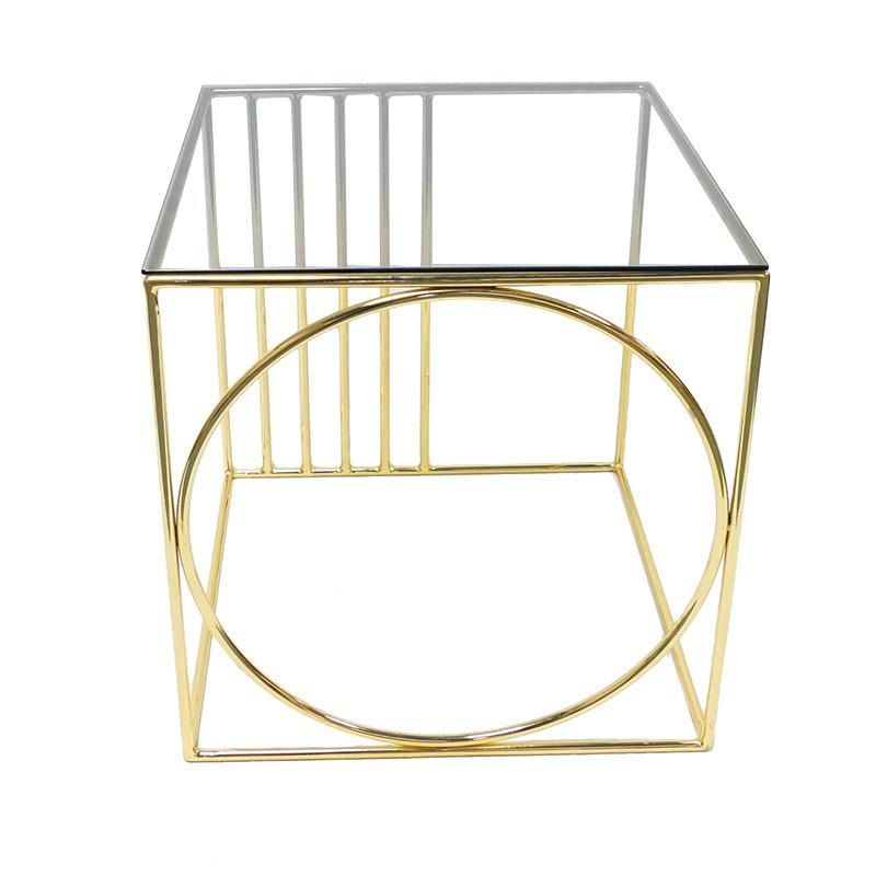Plating Gold Glass Coffee Table End Table GA3001T