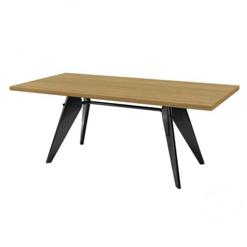 Jean Prouve Rectangle Wooden Dining Table GA1701T