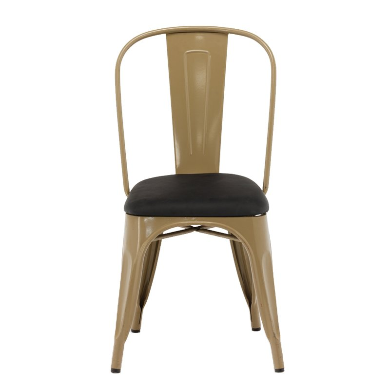 Gold Apple Coffee Shop Furniture Metal Restaurant Chair GA101C Stacking Chairs image20