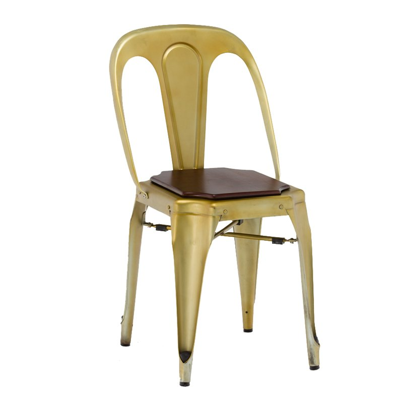Gold Apple Cafe Dining Chairs Restaurant Chairs Wholesale GA2101C Stacking Chairs image19